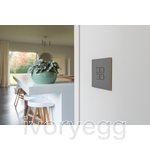 LOLA CARRƒ - KNX - 4 FLAT SQ P-B LEDS GREY ANODISED