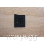 LOLA CARRƒ - KNX - 4 FLAT SQ P-B LEDS BRONZE ANODISED