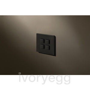 4 Button Select KNX Keypad Textured Black RAL9011 with RGB LED and RTC