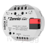 inBOX 24.  KNX multifunction actuator for flush mounting - 2 outputs 16A/4 inputs A/D